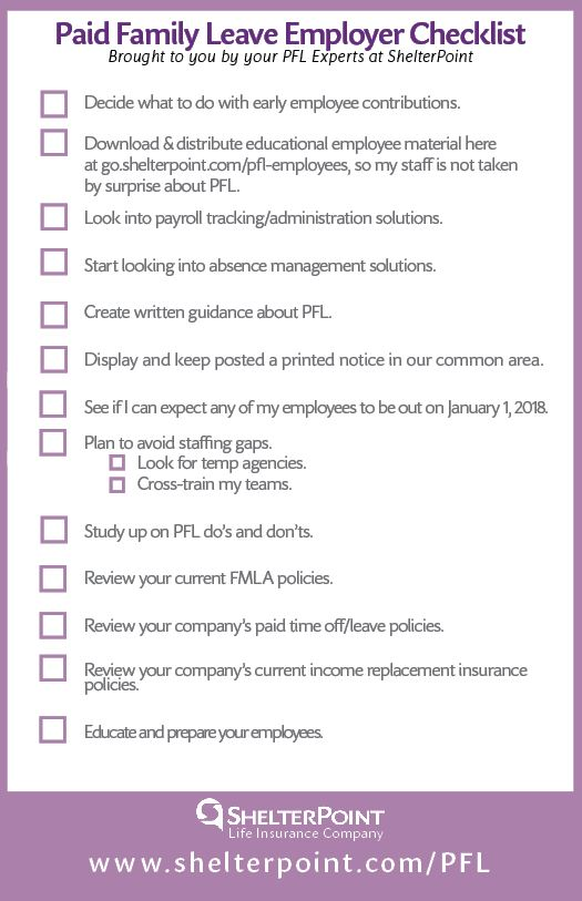 Paid Family Leave Checklist